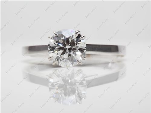 White Gold 1.23 Round cut Engagement Ring