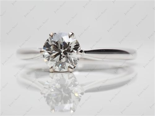 White Gold 1.02 Round cut Round Solitaire Ring