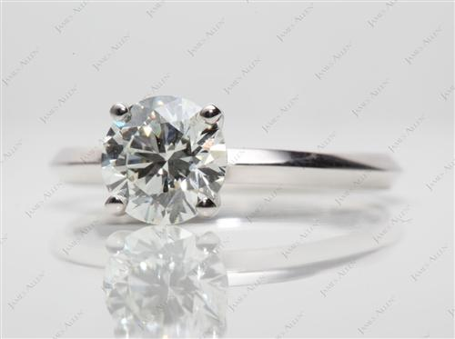 White Gold 1.40 Round cut Solitaire Ring Mountings