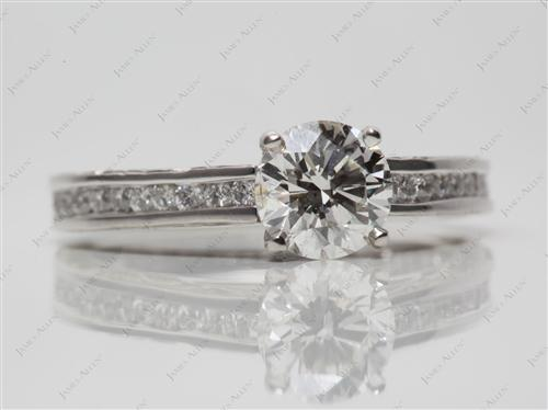 Platinum 1.00 Round cut Channel Setting Ring