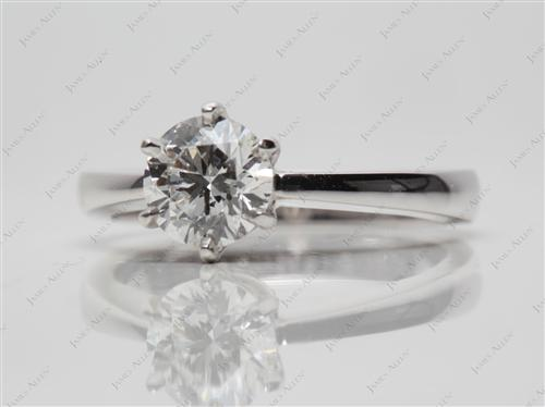 White Gold 0.84 Round cut Diamond Solitaire Engagement Ring