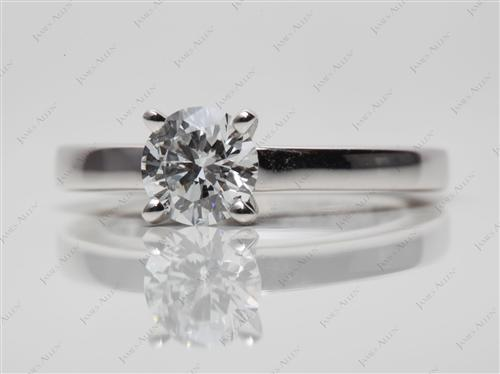 Platinum 0.70 Round cut Solitaire Ring Designs