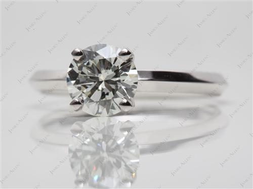 White Gold 1.24 Round cut Solitaire Diamond Ring