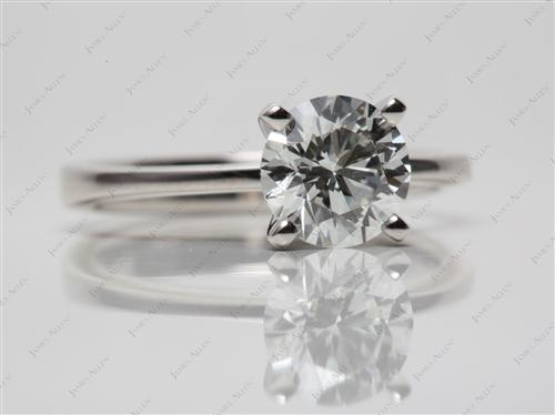 Platinum 1.51 Round cut Diamond Solitaire Rings