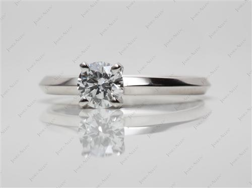 Platinum 0.45 Round cut Engagement Rings