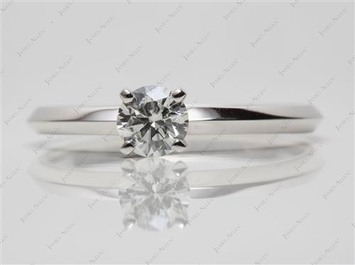 Platinum 0.45 Round cut Diamond Solitaire Ring Settings