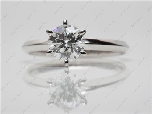 Platinum 1.03 Round cut Solitaire Ring Settings