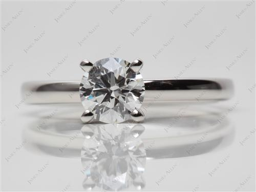 Platinum 0.79 Round cut Solitaire Ring Mountings