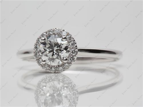 White Gold 0.70 Round cut Micro Pave Rings