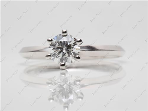 White Gold 0.75 Round cut Solitaire Ring Designs
