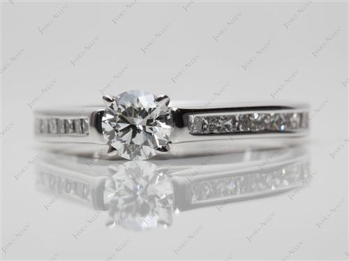White Gold 0.52 Round cut Channel Set Rings