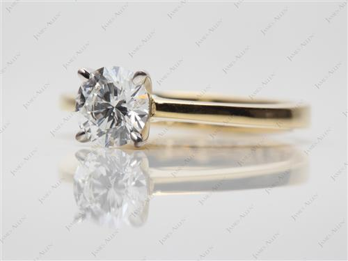 Gold 0.75 Round cut Solitaire Diamond Rings