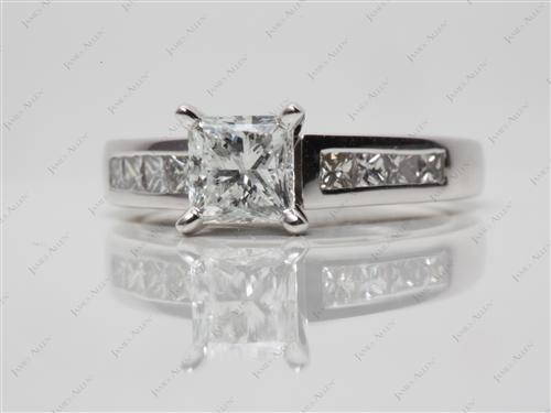Platinum 0.91 Princess cut Channel Set Diamond Band