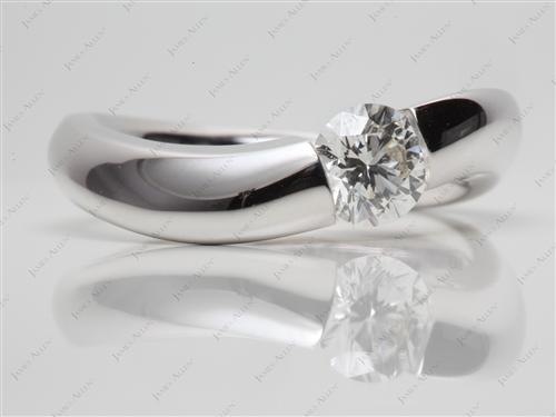 White Gold 0.76 Round cut Micro Pave Diamond Rings