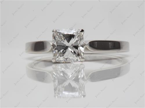 Platinum 1.02 Cushion cut Diamond Rings