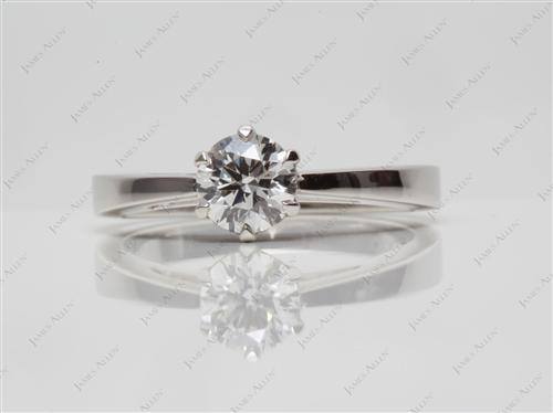 Platinum 0.59 Round cut Round Solitaire Ring