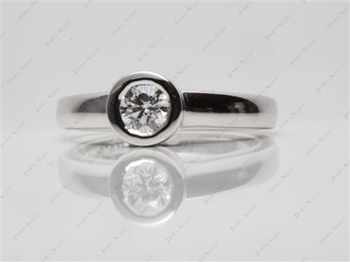 Platinum 0.53 Round cut Tension Diamond Ring
