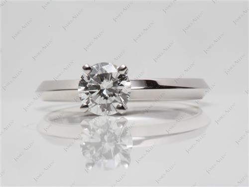 White Gold 0.93 Round cut Solitaire