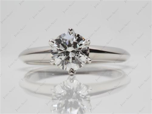 Platinum 0.81 Round cut Solitaire Ring Designs