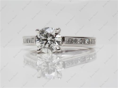 Platinum 1.10 Round cut Channel Set Diamonds