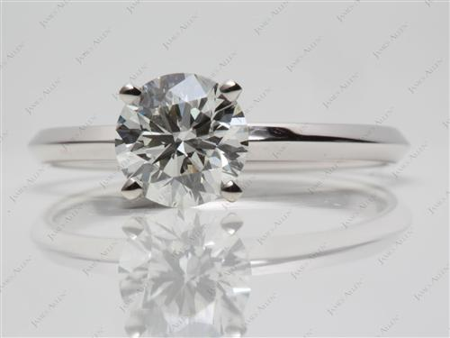 White Gold 1.54 Round cut Engagement Rings