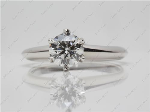 Platinum 0.70 Round cut Engagement Ring