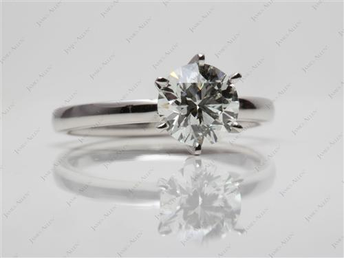 Platinum 1.21 Round cut Diamond Solitaire Rings