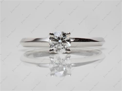 White Gold 0.45 Round cut Diamond Solitaire Rings