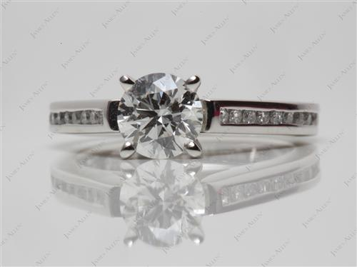 Platinum 0.79 Round cut Channel Set Diamond Ring