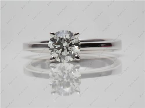 White Gold 0.91 Round cut Solitaire Engagement Ring