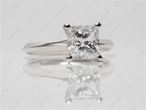 Platinum 1.22 Princess cut Solitaire