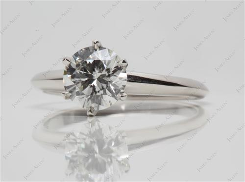 Platinum 1.27 Round cut Solitaire