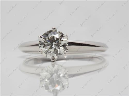 Platinum 0.80 Round cut Solitaire Ring