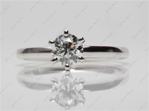 White Gold 0.75 Round cut Solitaire Ring