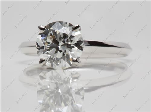 White Gold 1.52 Round cut Solitaire
