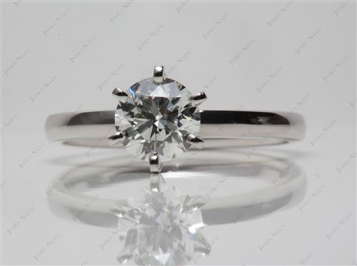 Platinum 0.91 Round cut Solitaire Ring