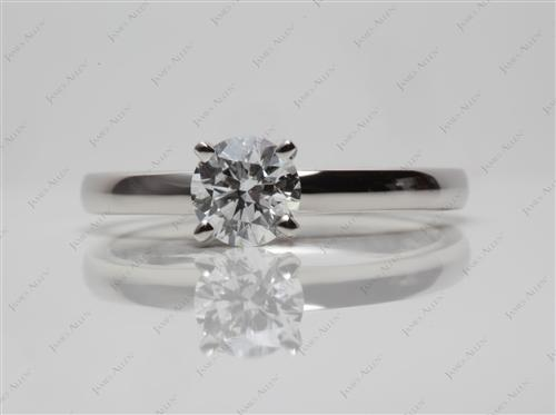Platinum 0.50 Round cut Diamond Rings