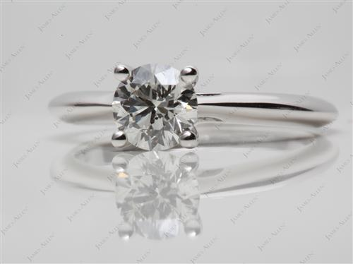White Gold 0.91 Round cut Engagement Rings