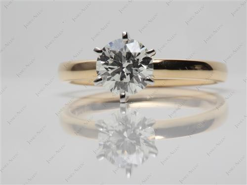 Gold 0.77 Round cut Solitaire Ring Setting