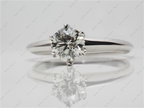 Platinum 0.80 Round cut Diamond Ring