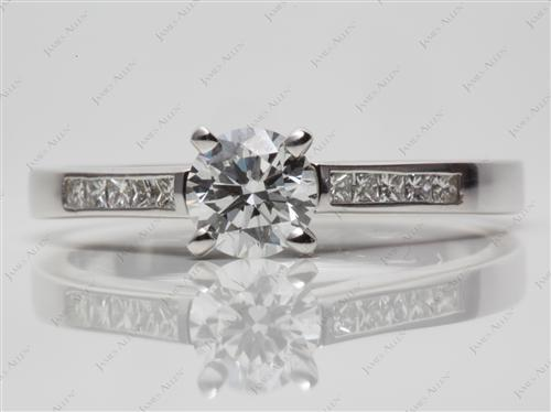 White Gold 0.70 Round cut Channel Diamond Ring