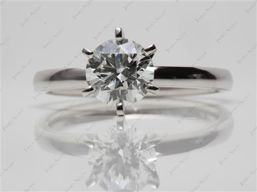 Platinum 1.00 Round cut Diamond Engagement Solitaire Rings