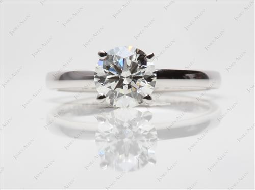 White Gold 1.03 Round cut Solitaire Ring Mountings