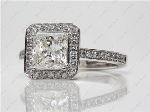 Platinum 1.80 Princess cut Diamond Ring