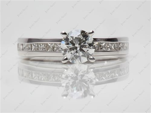 White Gold 0.83 Round cut Channel Ring