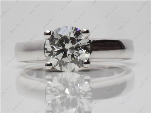 Platinum 1.34 Round cut Diamond Ring