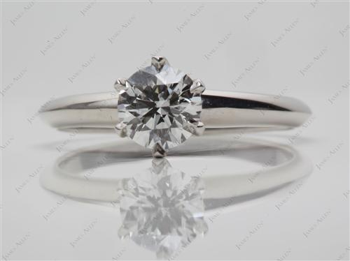 Platinum 0.80 Round cut Diamond Solitaire Ring Settings