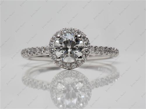 White Gold 0.60 Round cut Diamond Ring