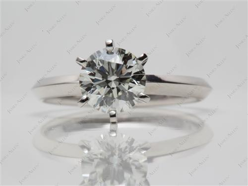 Platinum 1.02 Round cut Solitaire