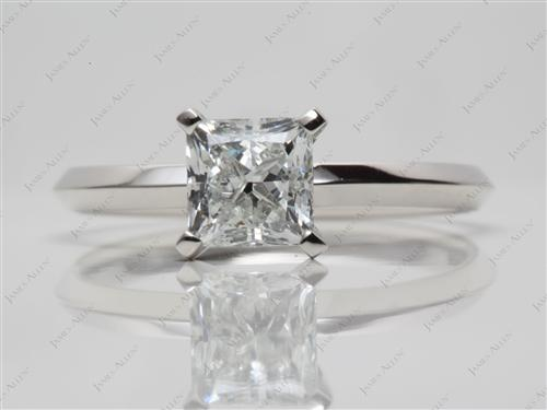 Platinum 1.20 Princess cut Engagement Ring